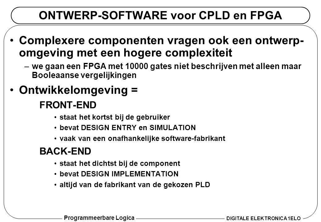 ONTWERP-SOFTWARE voor CPLD en FPGA