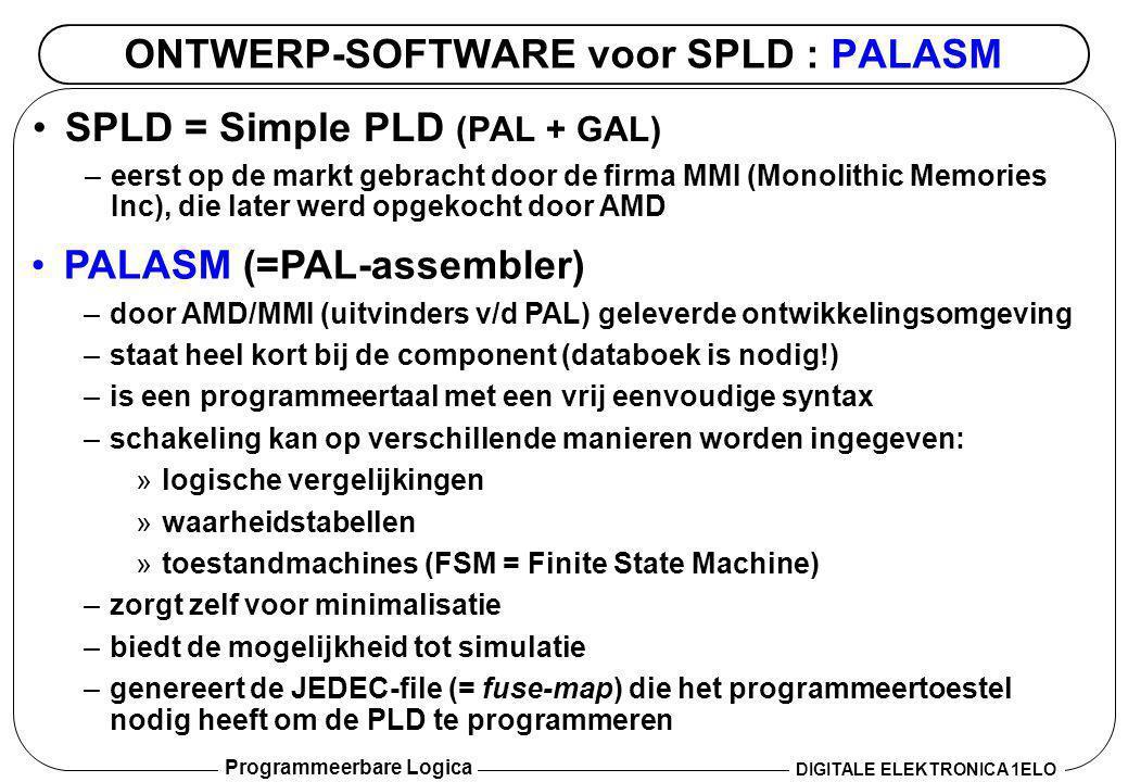 ONTWERP-SOFTWARE voor SPLD : PALASM