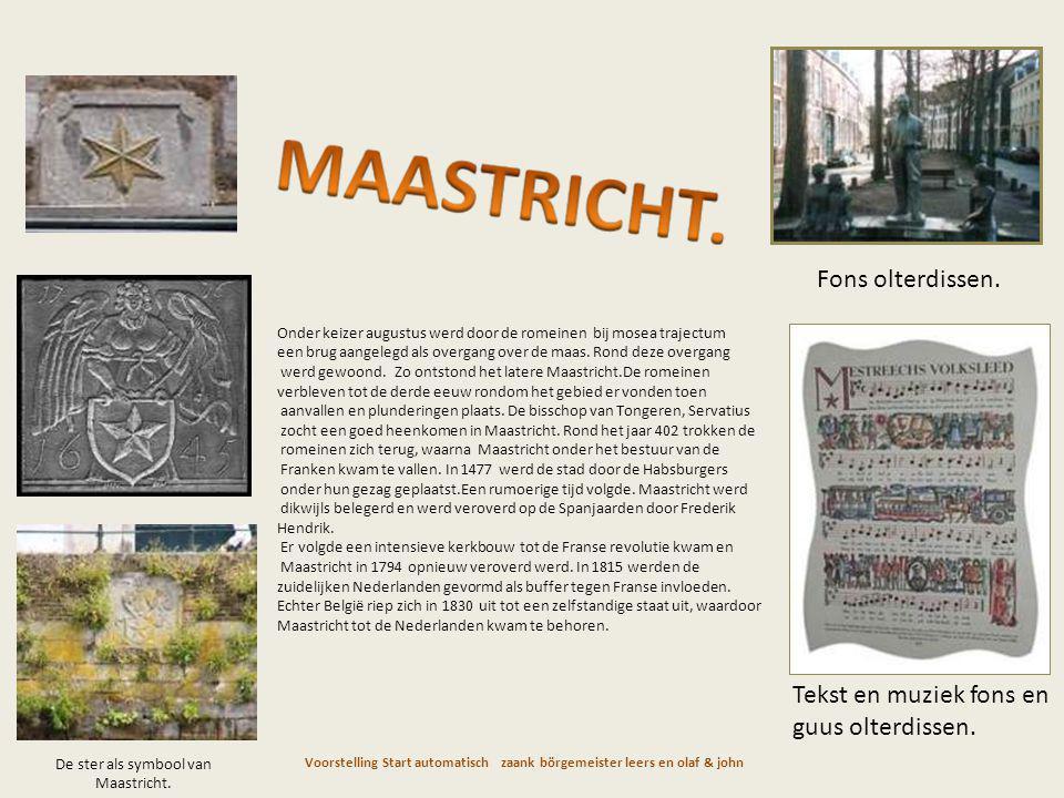 De ster als symbool van Maastricht.