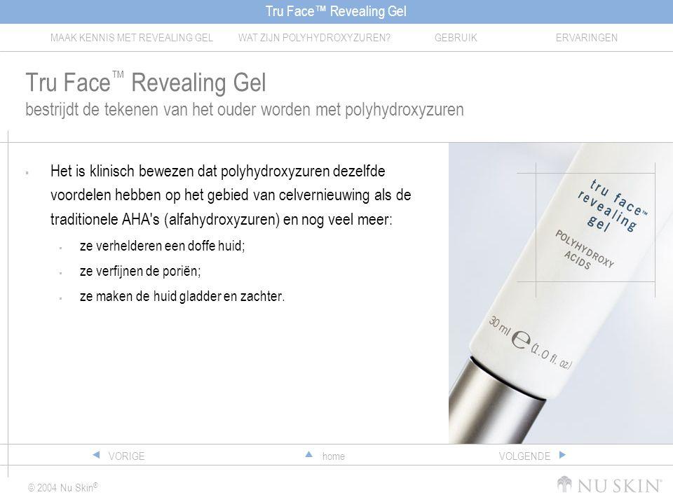 Tru Face™ Revealing Gel bestrijdt de tekenen van het ouder worden met polyhydroxyzuren