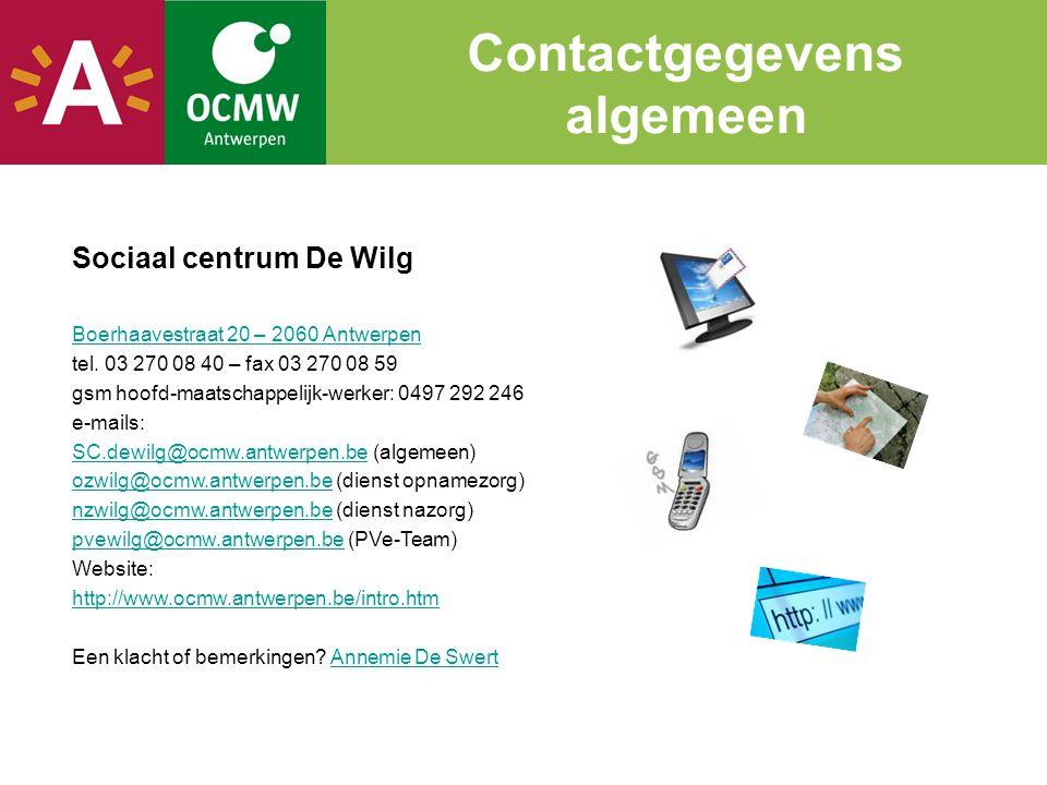 Contactgegevens algemeen