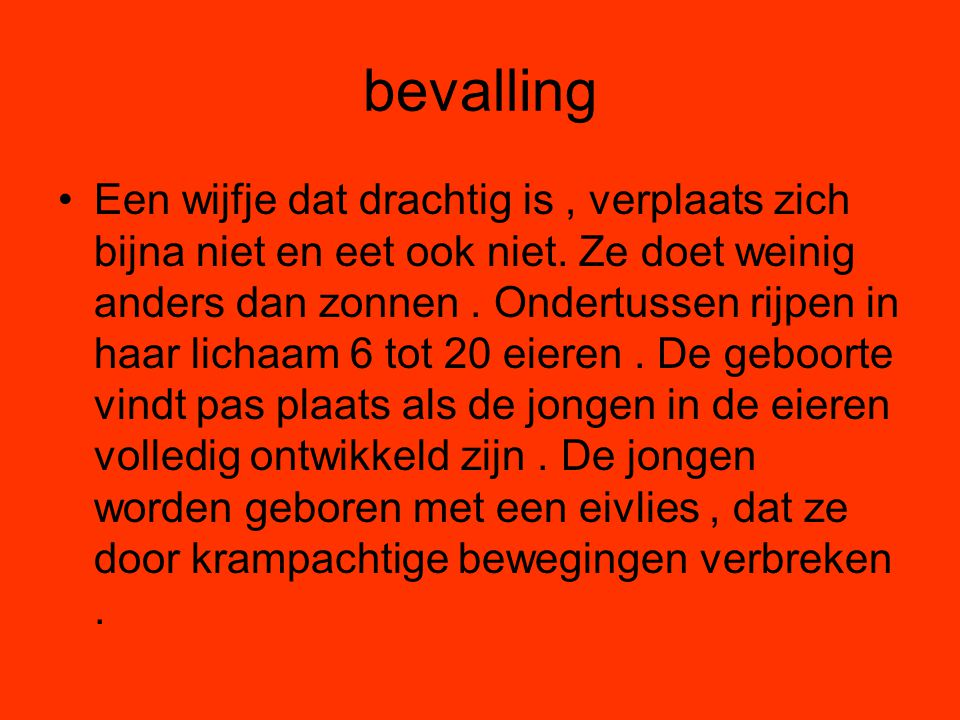 bevalling