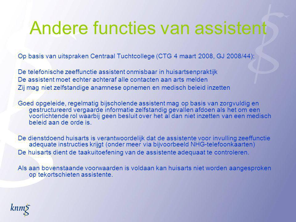 Andere functies van assistent