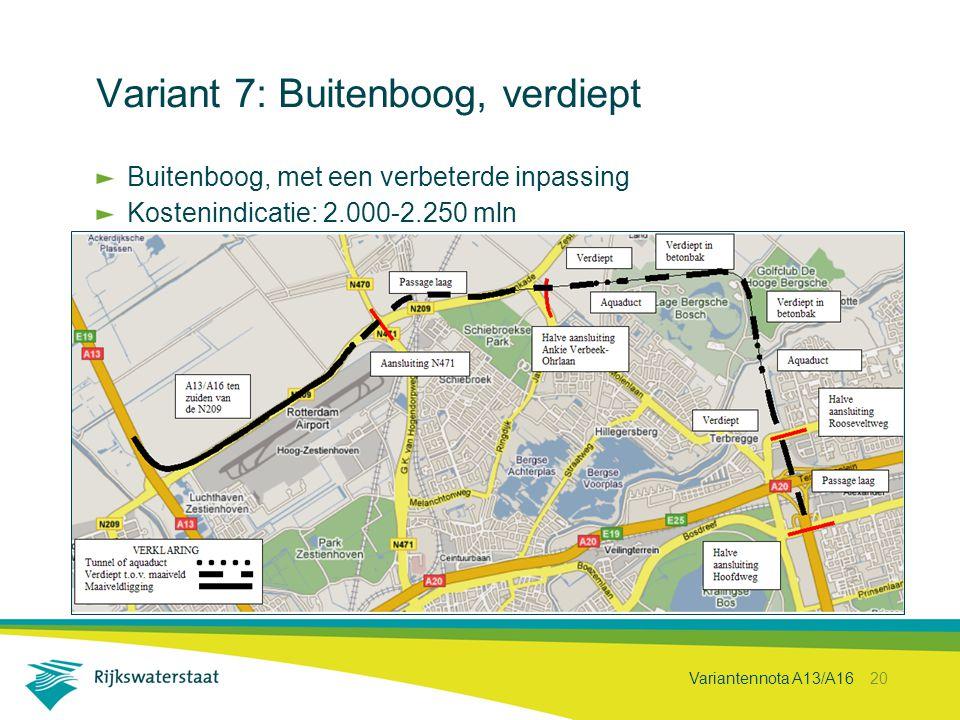 Variant 7: Buitenboog, verdiept