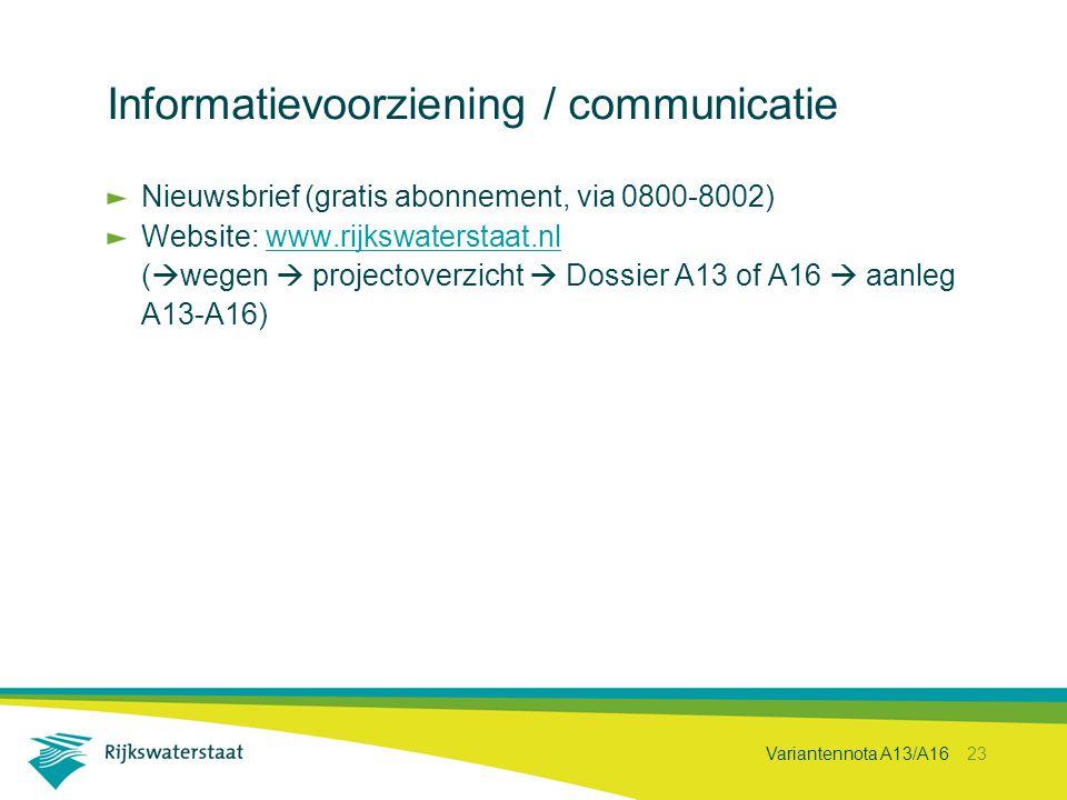 Informatievoorziening / communicatie