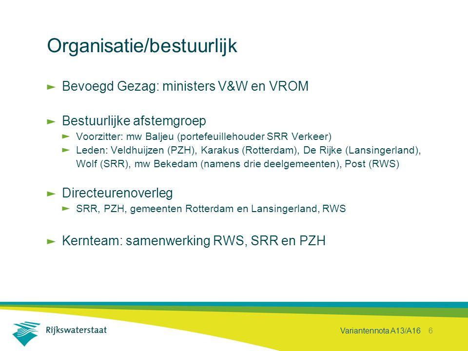 Organisatie/bestuurlijk
