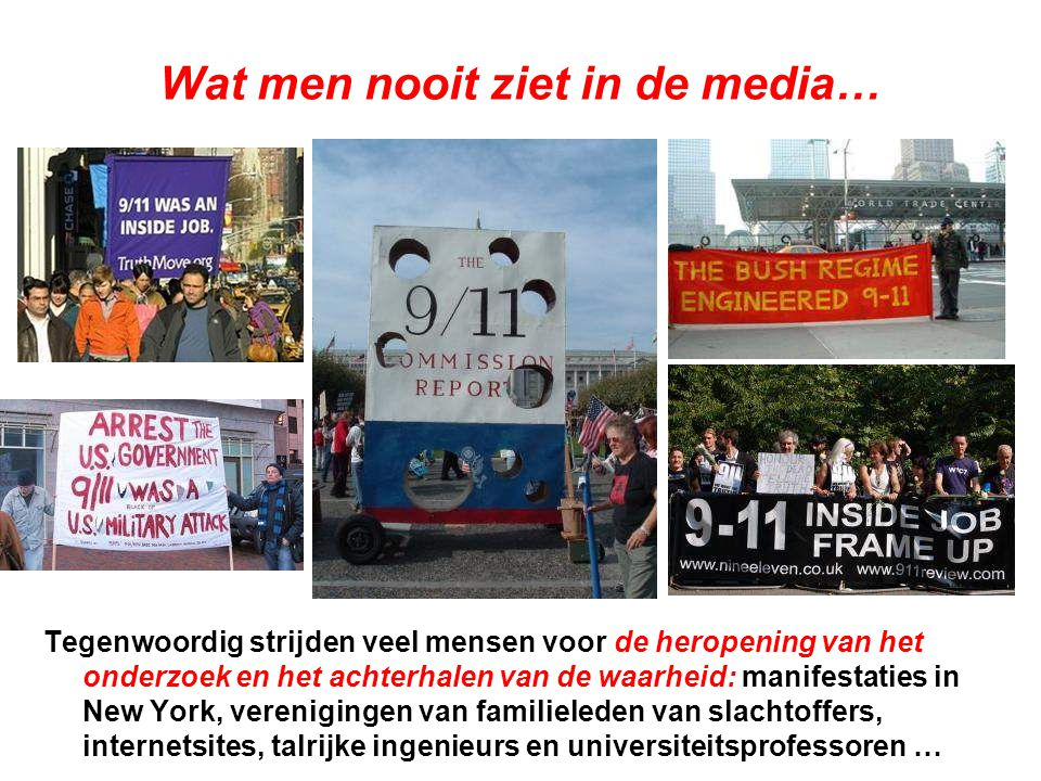 Wat men nooit ziet in de media…