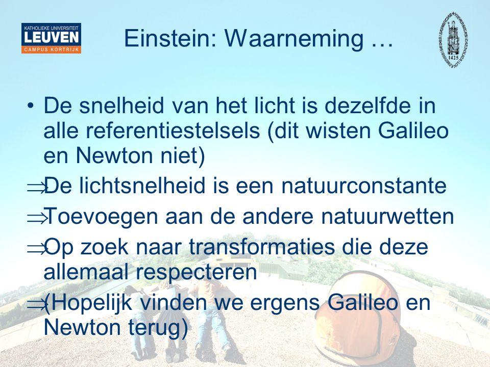 Einstein: Waarneming …