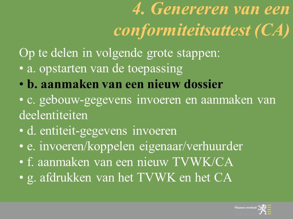 4. Genereren van een conformiteitsattest (CA)