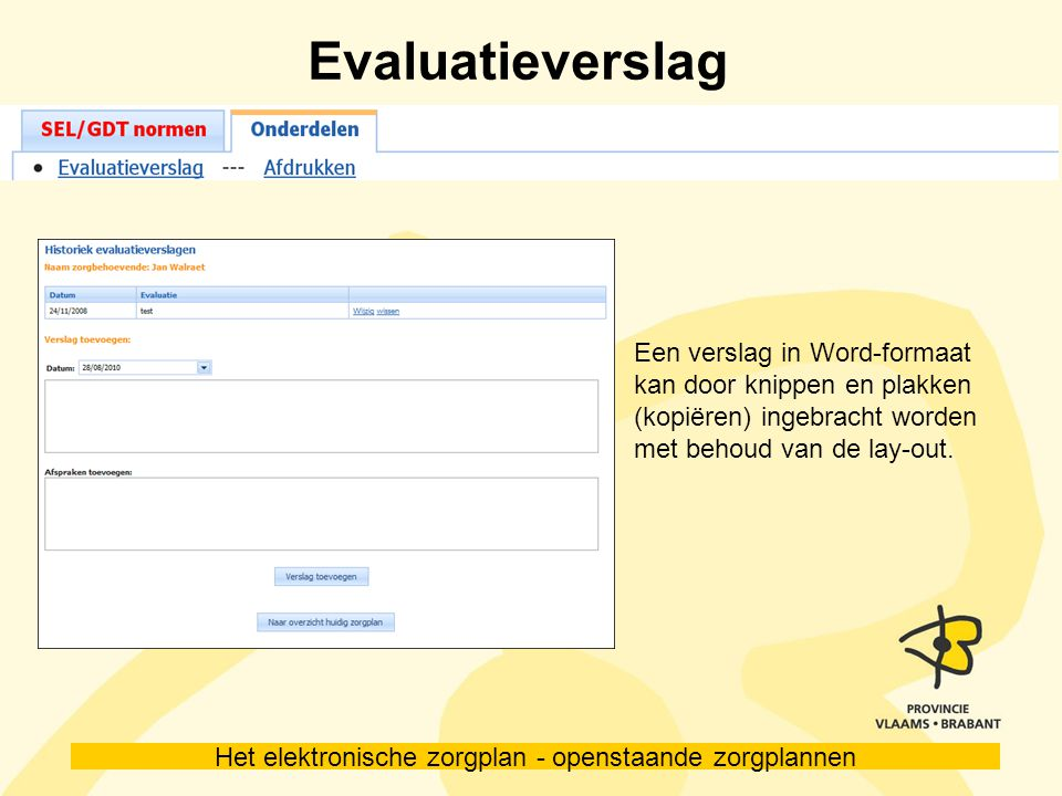 Evaluatieverslag Een verslag in Word-formaat