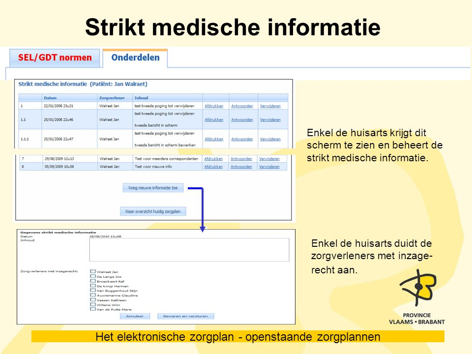 Strikt medische informatie
