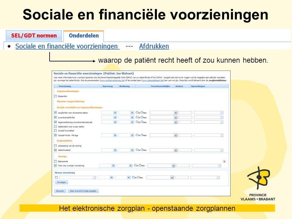 Sociale en financiële voorzieningen