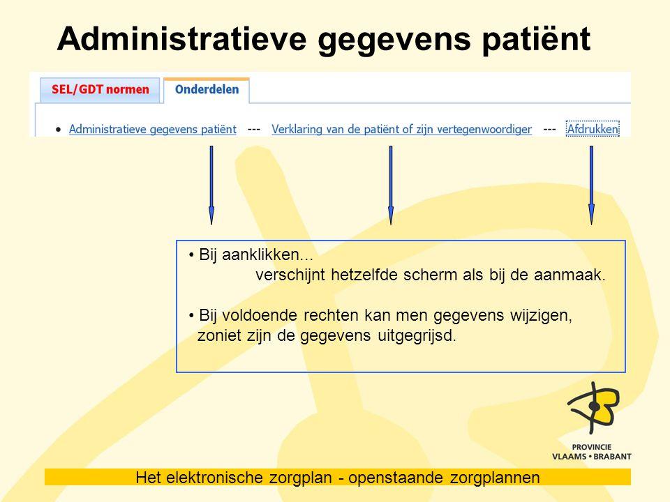 Administratieve gegevens patiënt