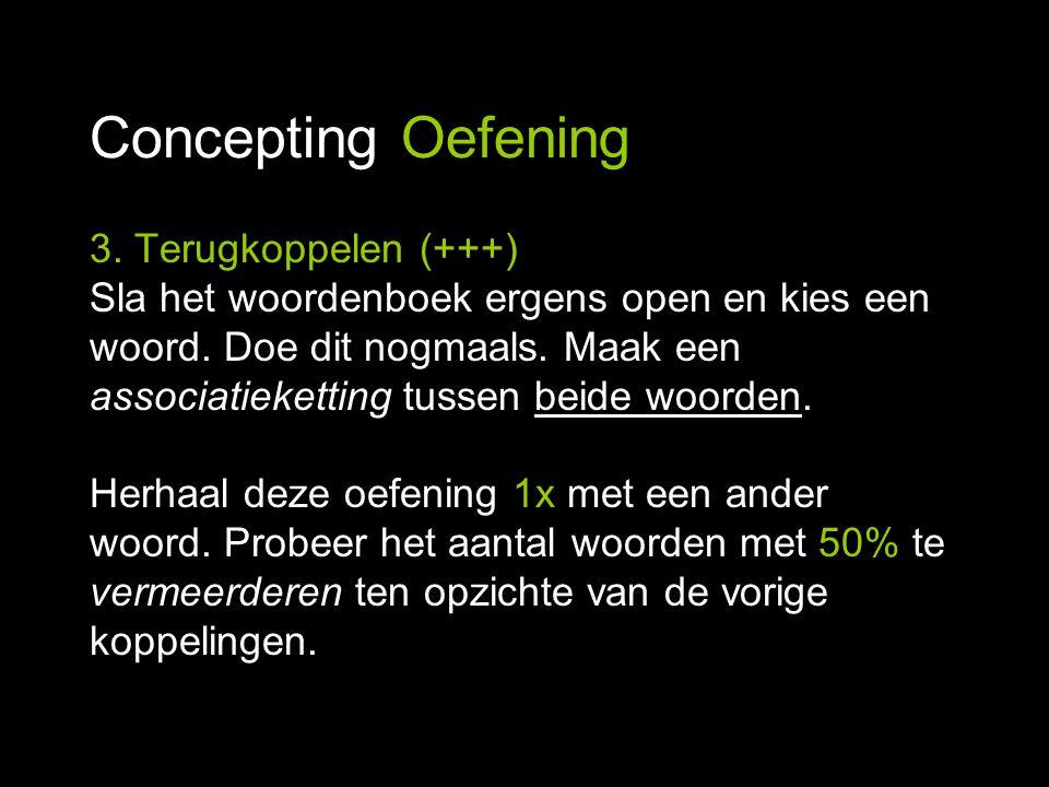 Concepting Oefening 3. Terugkoppelen (+++)