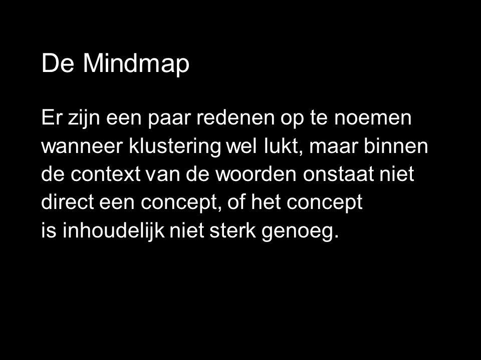 De Mindmap Er zijn een paar redenen op te noemen