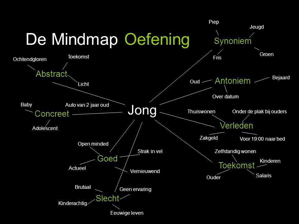 De Mindmap Oefening Jong Synoniem Antoniem Abstract Concreet Verleden