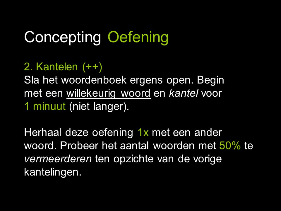 Concepting Oefening 2. Kantelen (++)