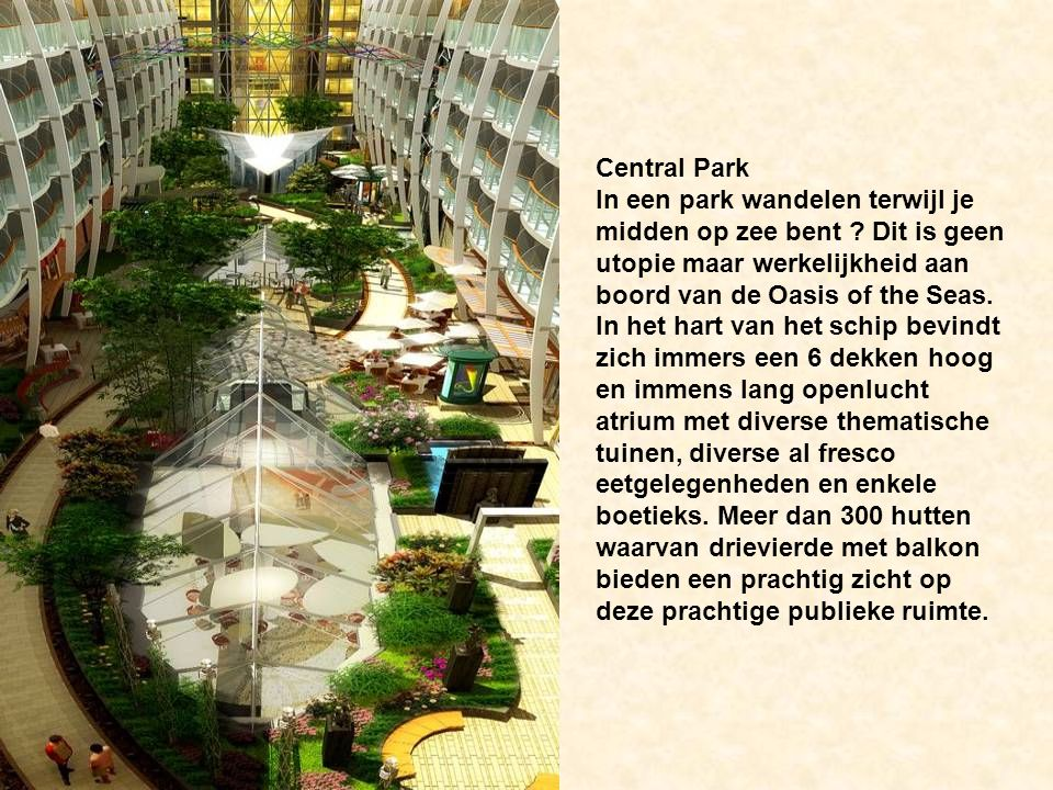 Central Park In een park wandelen terwijl je midden op zee bent