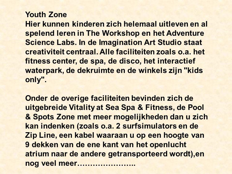 Youth Zone Hier kunnen kinderen zich helemaal uitleven en al spelend leren in The Workshop en het Adventure Science Labs.