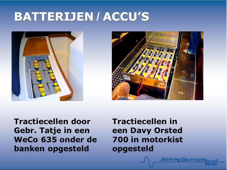 BATTERIJEN / ACCU'S Tractiecellen door Gebr. Tatje in een WeCo 635 onder de banken opgesteld.