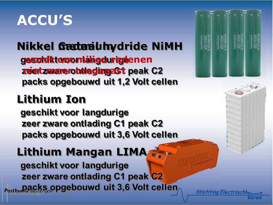 ACCU'S Nikkel Cadmium wordt om milieu redenen niet meer toegepast
