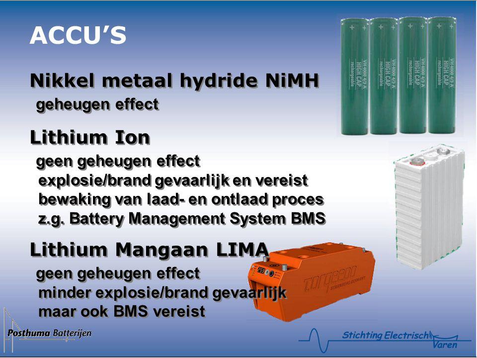 ACCU'S Nikkel metaal hydride NiMH geheugen effect