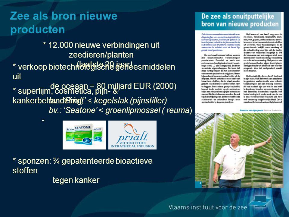 * 12.000 nieuwe verbindingen uit zeedieren/planten