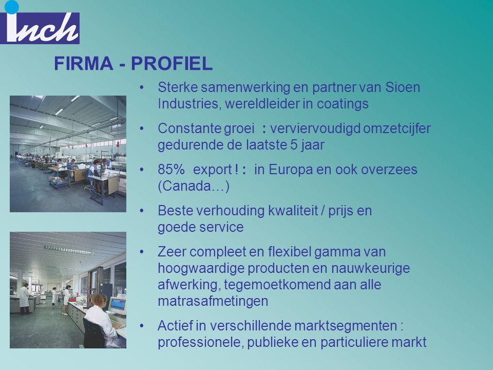 FIRMA - PROFIEL Sterke samenwerking en partner van Sioen Industries, wereldleider in coatings
