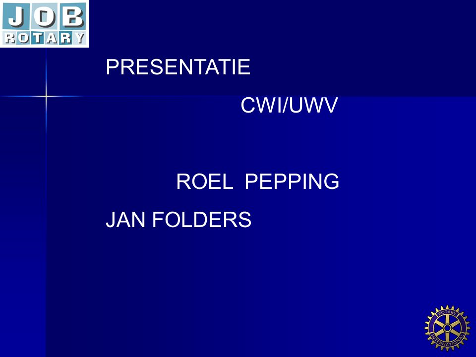 PRESENTATIE CWI/UWV ROEL PEPPING JAN FOLDERS