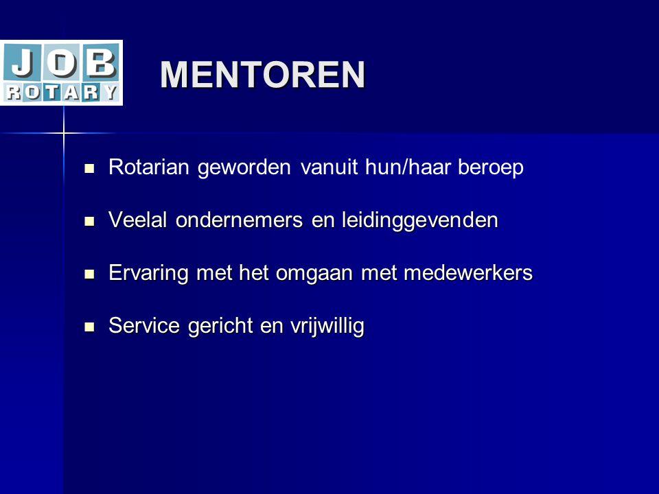 MENTOREN Rotarian geworden vanuit hun/haar beroep