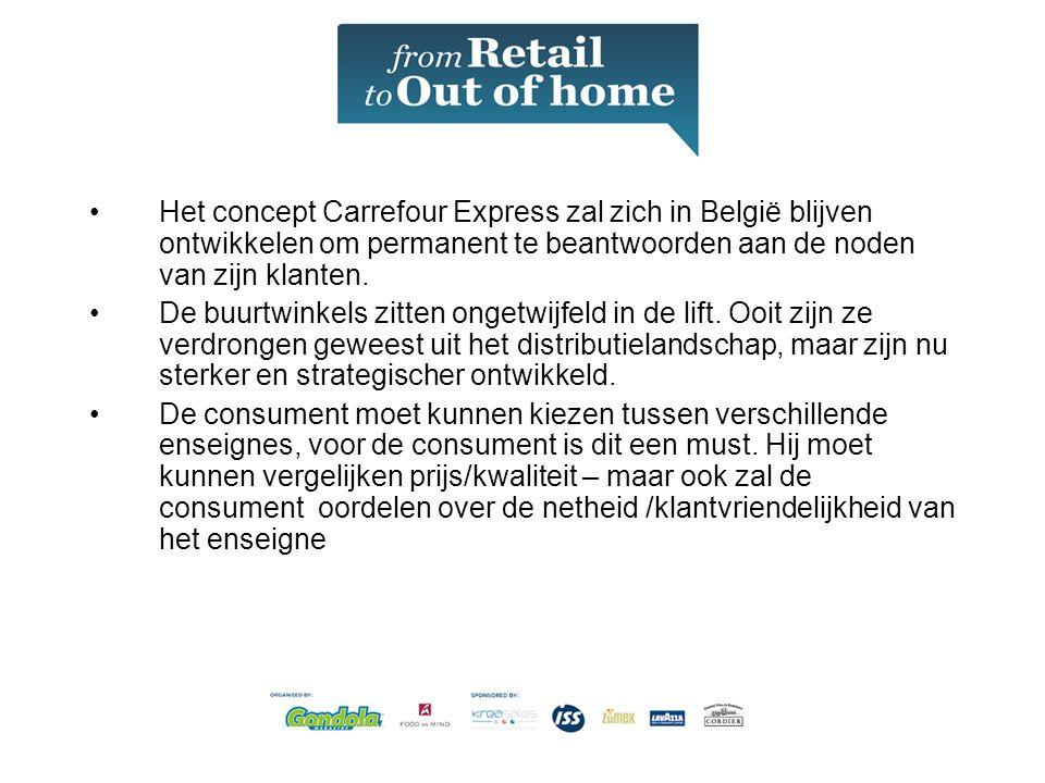 Het concept Carrefour Express zal zich in België blijven ontwikkelen om permanent te beantwoorden aan de noden van zijn klanten.