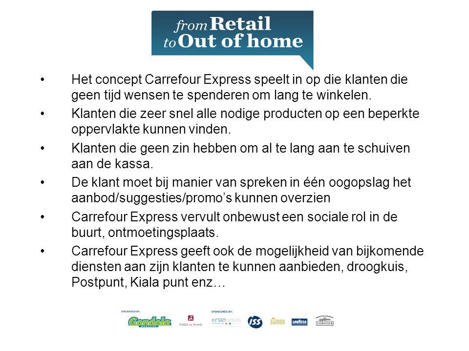 Het concept Carrefour Express speelt in op die klanten die geen tijd wensen te spenderen om lang te winkelen.