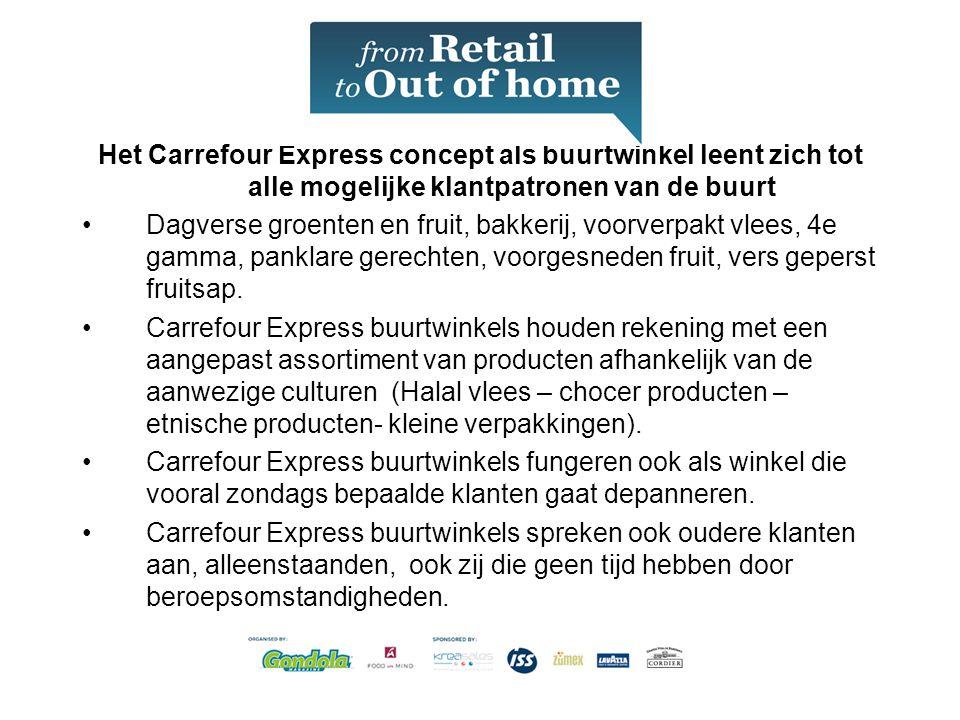 Het Carrefour Express concept als buurtwinkel leent zich tot alle mogelijke klantpatronen van de buurt