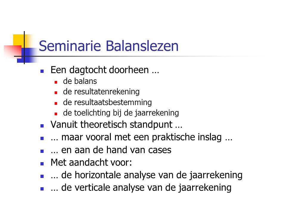 Seminarie Balanslezen