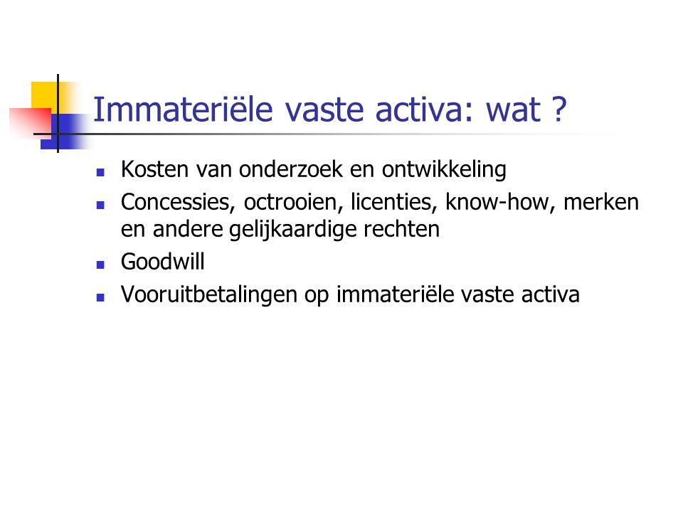Immateriële vaste activa: wat