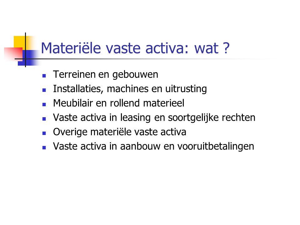 Materiële vaste activa: wat