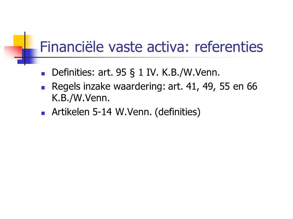 Financiële vaste activa: referenties