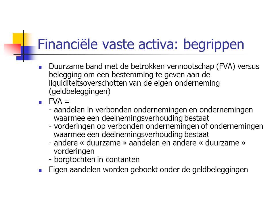Financiële vaste activa: begrippen