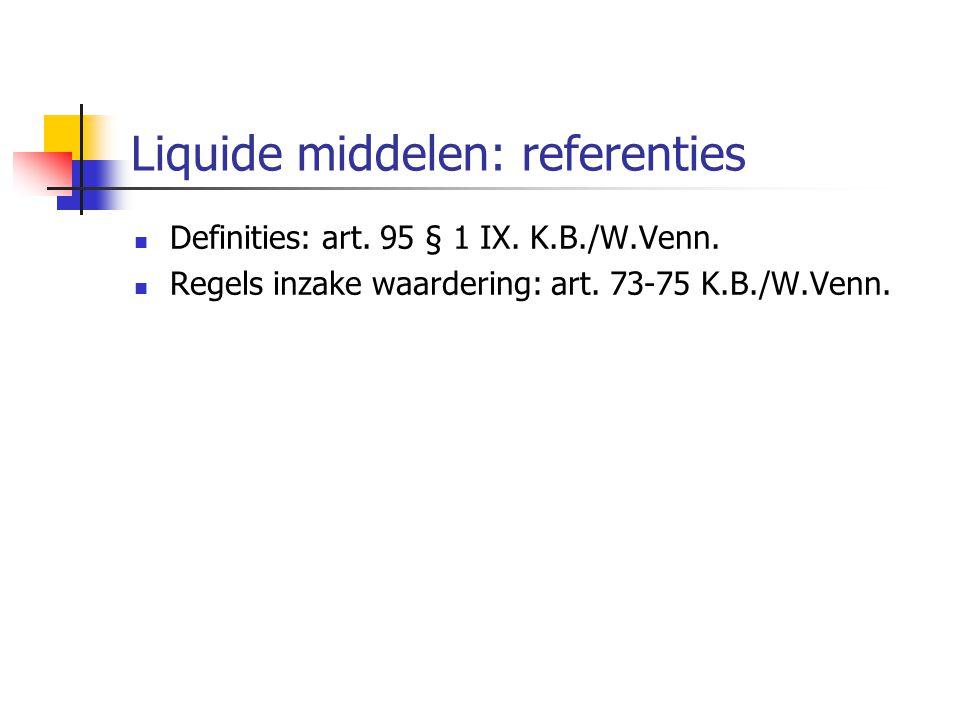 Liquide middelen: referenties