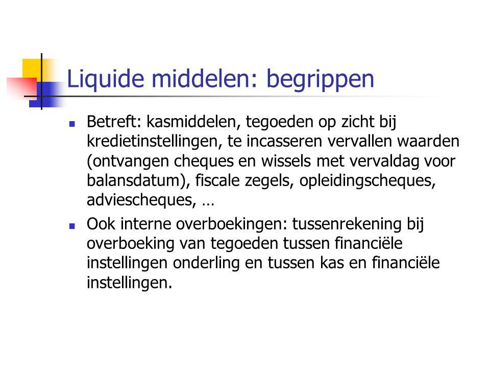 Liquide middelen: begrippen