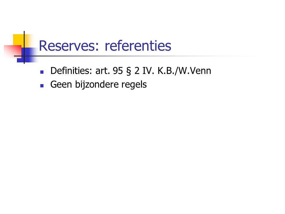 Reserves: referenties