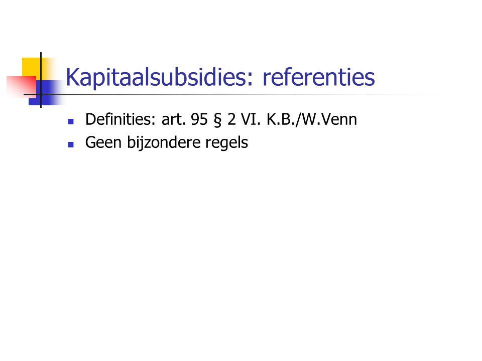 Kapitaalsubsidies: referenties