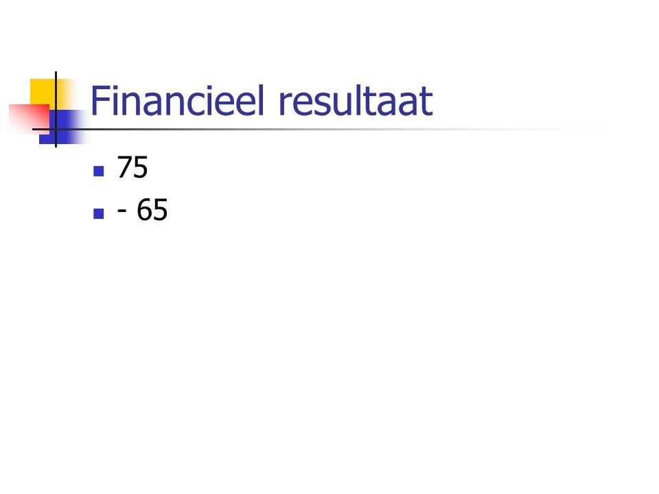 Financieel resultaat 75 - 65