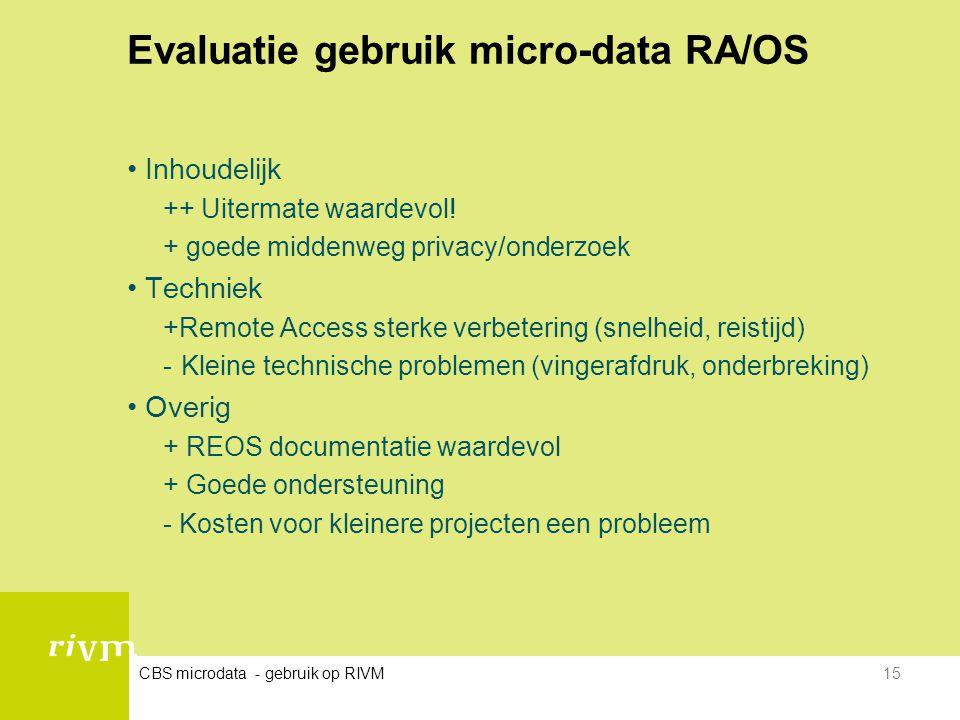 Evaluatie gebruik micro-data RA/OS