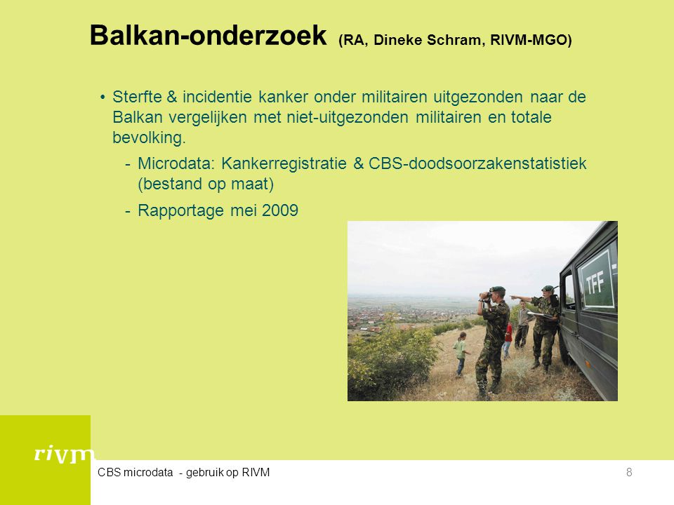Balkan-onderzoek (RA, Dineke Schram, RIVM-MGO)