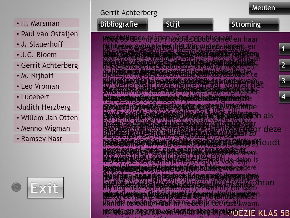 Exit Gerrit Achterberg Thematiek: