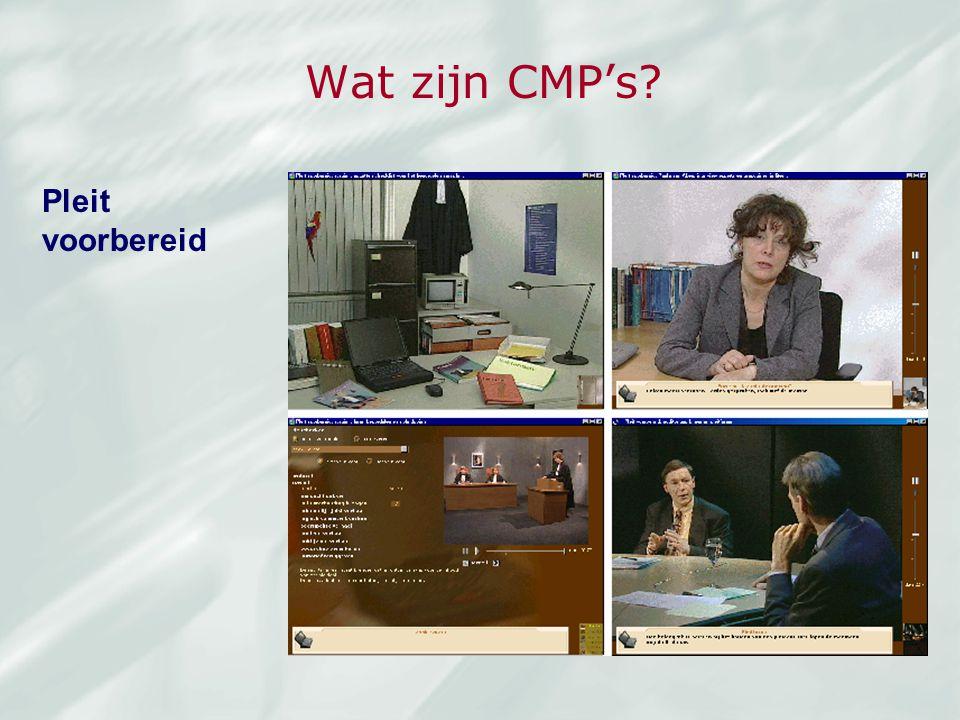 Wat zijn CMP's Pleit voorbereid