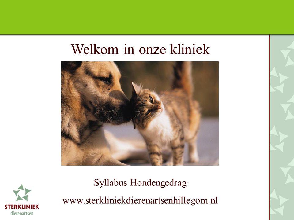 Welkom in onze kliniek Syllabus Hondengedrag