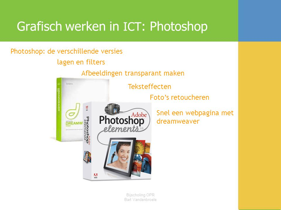 Grafisch werken in ICT: Photoshop