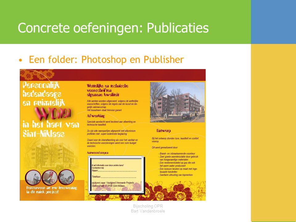 Concrete oefeningen: Publicaties